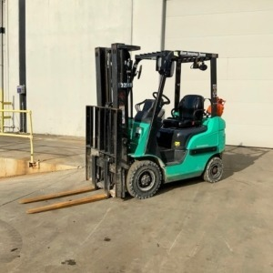 Green forklifts available at Miami Industrial Trucks
